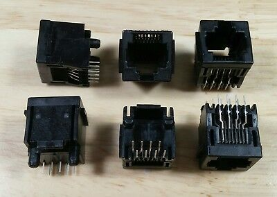 10pcs lot Tyco 5520259-4 Vertical 8p8c RJ45 connector with PCB mounting