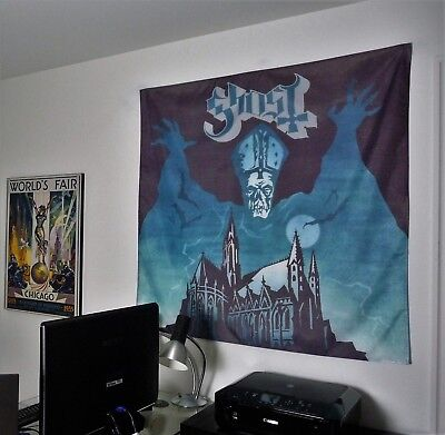 GHOST heavy metal band Opus Eponymous HUGE 4X4 BANNER poster tapestry cd album
