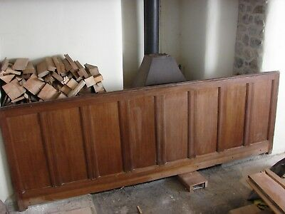 2 Lengths of Victorian or Edwardian Oak Panelling, Frame and Panel Wainscoting