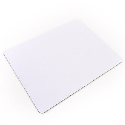 White Fabric Mouse Mat Pad High Quality 3mm Thick Non Slip Foam 26cm x 21c pO