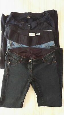 Maternity trousers 12 tall long next newlook jeans chino blue bundle