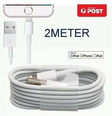 2M Charger Cable for iPhone X iPhone 8 6 Plus 7 PLUS cord USB Data 2 Meters long