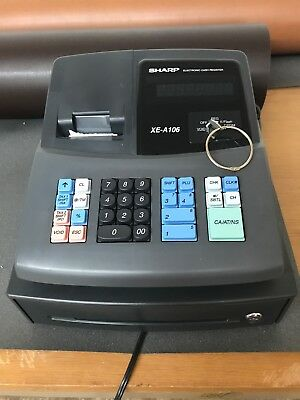 Sharp XE-A106 Electronic Cash Register - Works Great-Tested