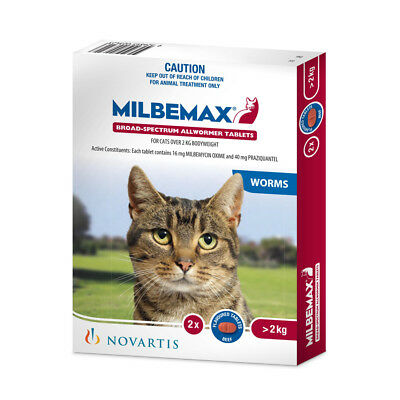 NEW Milbemax All Wormer for Cats Over 2kg 2 Pack