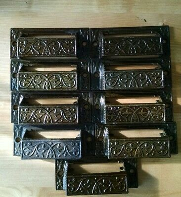 9 Antique Eastlake Apothecary Handles Drawer Pulls