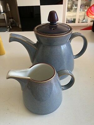 Denby Storm Teapot Coffee With Milk Jug