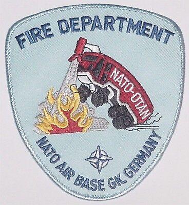 Abzeichen Aufnäher Patch FIRE DEPARTMENT NATO Air Base GK. Germany ........A4762