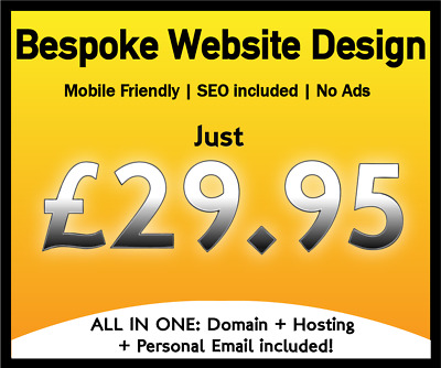 Website Design Service - Domain, Hosting & Seo Included - Mobile/tablet Friendly