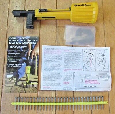 Quik Driver - Turns Your Drill into an Automatic Screw Gun - Made in U.S.A.
