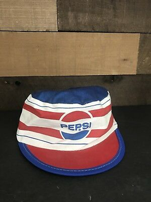 Vintage Pepsi Cola Childrens Youth Hat Rare Retro Red White Blue Streetwear
