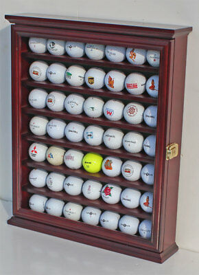 49 Golf Ball Display Case Rack Cabinet with Glass Door, LOCKABLE , GB49L-CHE