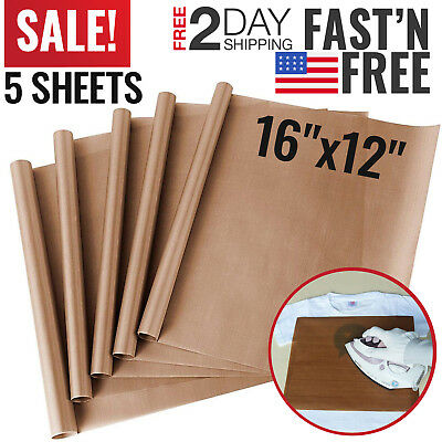 Teflon Transfer Sheets for Heat Press Non Stick Iron Resistant Reusable Craft
