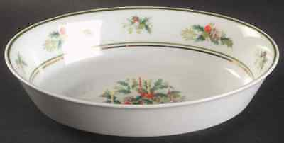 Noritake Holly 9 Inch Oval Serving Vegetable Bowl Christmas China