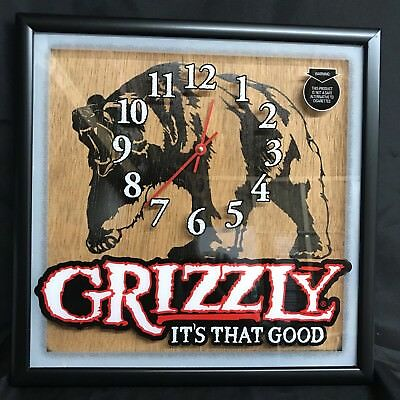 Kodiak GRIZZLY Bear Smokeless Tobacco Snuff Chewing Advertising Clock Sign NOS