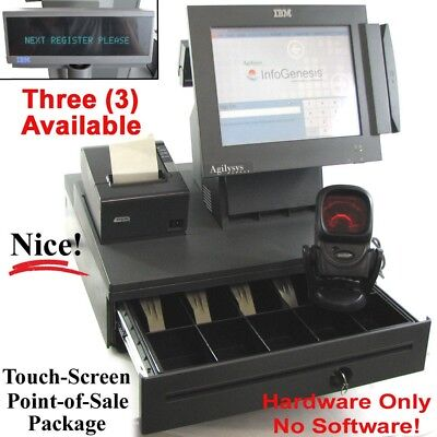 IBM Agilysys POS Retail Checkout System -Terminal, Register, Card Swipe, Scanner