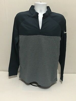 c68903d3f 2018 Nike Men's Size M Therma Core Half Zip Golf Top 854498 454 Armory Navy