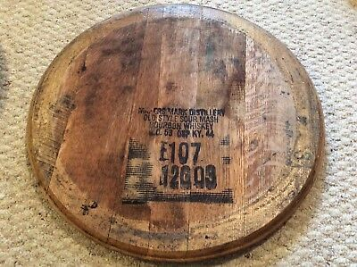 100% Authentic Makers Mark Kentucky Bourbon Whiskey Barrel Head
