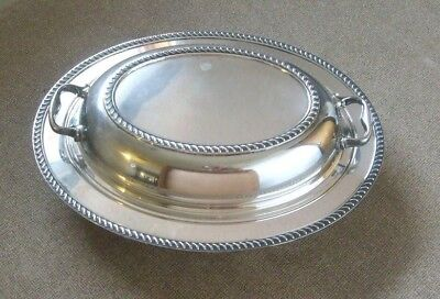 Casserole serving dish with lid Silverplate Silver by Burche 523