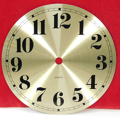 "6"" Metal Clock Dial Brushed Gold Arabic Numbers For Quartz Movemements"