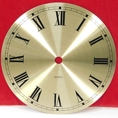 "6"" Metal Clock Dial Brushed Gold Roman Numbers For Quartz Movemements"