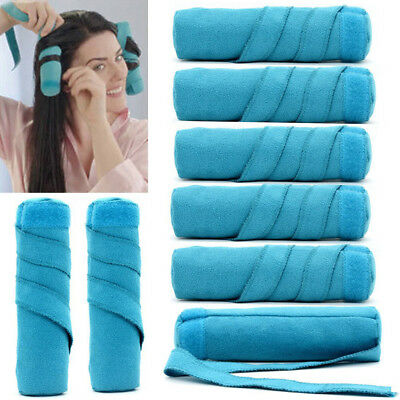Nighttime Hair Curlers Sleep Hair Rollers for Long Thick or Curly DIY Curls 8PCS