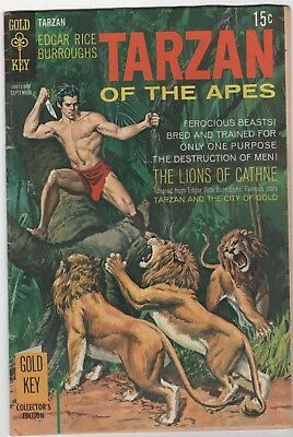 Tarzan Of The Apes #187 In Very Good/Fine 5.0 Condition (Sept.,1969 Western)