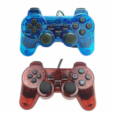 2018 Blue Twin Shock Game Controller Joypad Pad for Sony PS2 Playstation 2