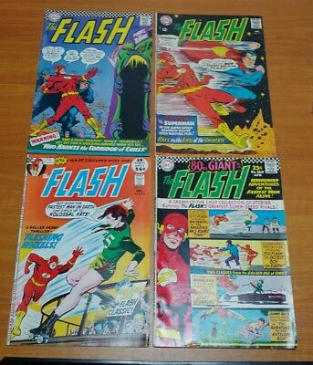 Lot of 4- DC Comics The FLASH  #160 #162 #175 #211