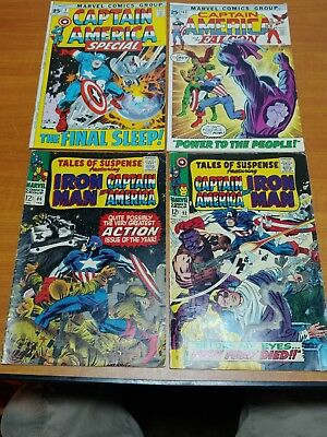Lot of 4 Marvel Comics Captain America and Ironman #2 #86 #92 #143