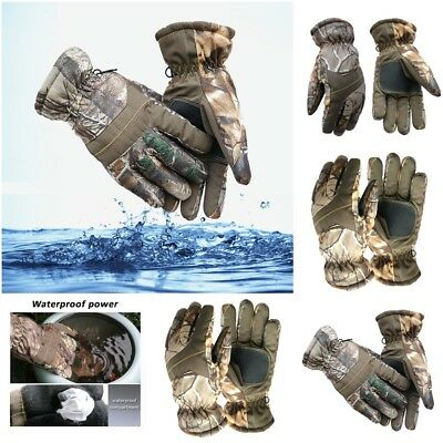 Outdoor Camouflage Hunting Gloves Full Finger Thermal Waterproof Camping Ski