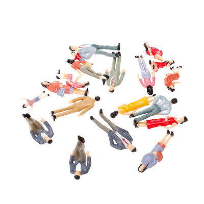 20pcs Painted Model Train Passenger People Figures 1:25 Layout Street Scene