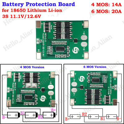 3x 1S 3.7V 2.5A PCB BMS Protection Board for 18650 Li-ion Lithium Battery CeI1