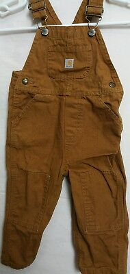 Carhartt Toddler's Brown Chino Coveralls Jumpsuit Sz 2T(#c10