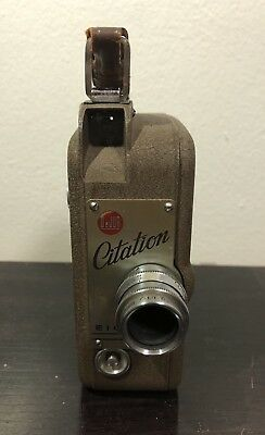 Vintage DeJur Citation 8 MM Movie Camera Eight with Case and Instructions