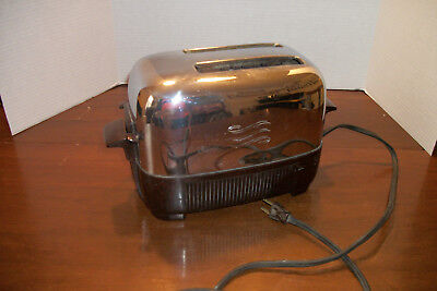 Vintage Toaster General Electric Cat No. 139T81 Retro Chrome - Parts Or Repair
