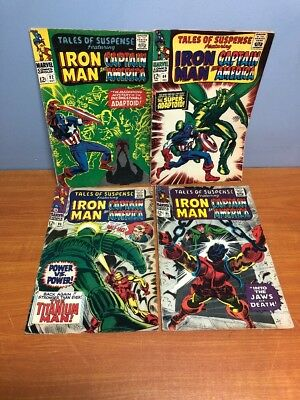 Lot of 4 Marvel Ironman & Comics Captain America #82 #84 #85 #93