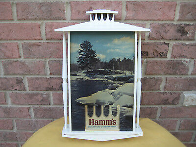 """HAMM'S BEER LIGHT UP SIGN """"From the land of sky blue waters"""" 18"""" X 12"""""""