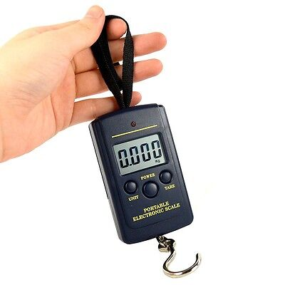 Digital Luggage Scale Fishing Weight Electronic Pocket Hanging Hook 40kg/10g