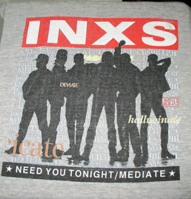Vintage INXS Concert TShirt World Tour 1988 Size XL Mediate Need You Tonight