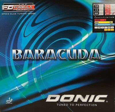 Pick Your Color and Thickness Donic Baracuda Table Tennis and Ping Pong Rubber