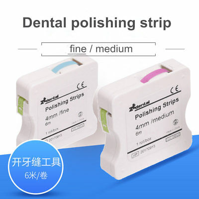 1roll/box Dental color polishing strips Dental Prophy Supply 4mm*6M red(Rough)