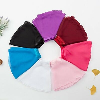 Kid Toddler Girl Ballet Gymnastics Chiffon Wrap Scarf Tutu Skirt Dance Leotard