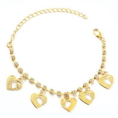 New Fashion Stainless Steel Heart Butterfly Style Charm Chain Bracelet Gift