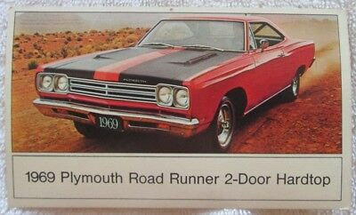 1969 Plymouth Road Runner 2-Door Hardtop Post Card