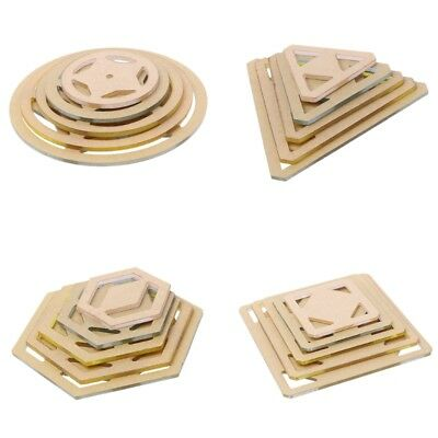 5pcs Assorted PVC Quilting Templates for DIY Quilter Patchwork Sewing