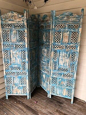 antique Indian Carved Wooden Screen