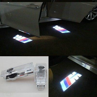 2/4 X CREE LED Door Lights For BMW M Projector Courtesy Puddle Shadow Laser Logo