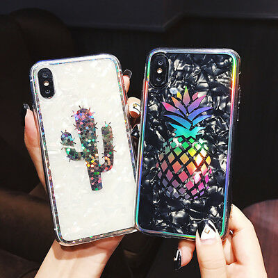 For iPhone Xs Mas Xr X 8 6 7 Plus Shockproof Hybrid TPU Bling Glitter Case Cover