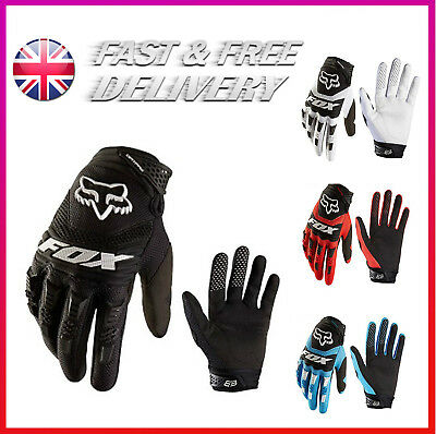 Fox Full Finger Motorcycle Cycling Gloves Mountain Racing Sport Offroad Gloves