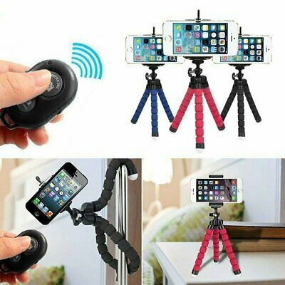 Tripod Flexible Octopus Holder Stand Mount w/ Remote Control for iPhone  Camera